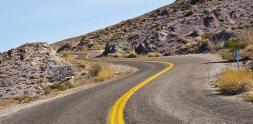 Winding Road, Route 66 Arizona Desert